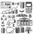vintage investment elements set vector image vector image