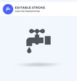 water tap icon filled flat sign solid vector image vector image