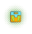 Weight scale icon comics style vector image vector image