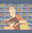 woman with books vector image vector image