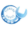 wrench plumbing and household appliances symbol vector image vector image