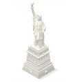 Liberty Statue Landmarks Isometric vector image
