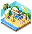 Beach Life Icon 3D Isometric vector image vector image
