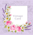 Beautiful flowers for invitation card vintage
