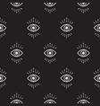 black and white hipster abstract eye pattern vector image vector image
