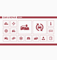 car repair icons - set web and mobile 01 vector image vector image