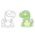 cartoon dragon outline vector image