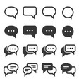 chat and speech bubble icons set on white vector image vector image