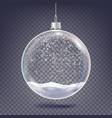 christmas ball classic xmas tree glass vector image vector image