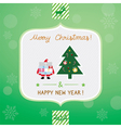 Christmas greeting card3 vector image vector image