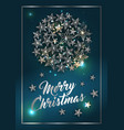 christmas poster or card template with star ball vector image vector image