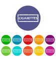 Cigarettes flat icon vector image vector image