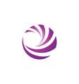 circle sphere purple wave swirl round logo icons vector image vector image