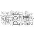 clay pot crafts vector image vector image