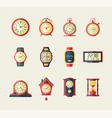 clocks and watches - modern flat design vector image