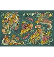 Colorful set of hippie objects vector image vector image