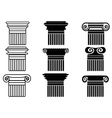 column icons set vector image vector image