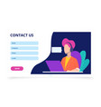 contact us form web banner feedback landing page