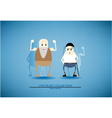 Contrast collection elder and adult cartoon vector image vector image