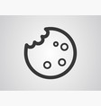 cookie icon sign symbol vector image
