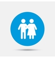 Couple icon Young family symbol vector image vector image