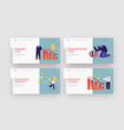 covid19 impact on business landing page template vector image