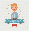 cute father character card vector image vector image