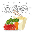 delicious food menu icons vector image