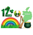 design elements collection for st patricks day vector image