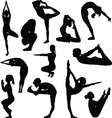 Different yoga poses vector image vector image