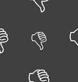 Dislike sign icon Thumb down Hand finger down vector image vector image