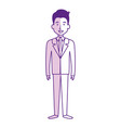 elegant businessman avatar character vector image vector image