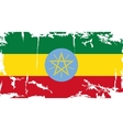 Ethiopia grunge flag vector image vector image