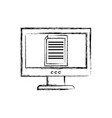 figure electronic document information inside vector image vector image