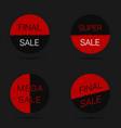 final sale labels vector image vector image
