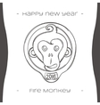 Fire Monkey Two Black vector image vector image