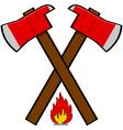 Fireman axe vector image vector image