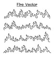 flame fire icon set in thin line style vector image vector image