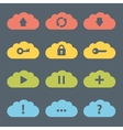 Flat Clouds Icon Set vector image vector image