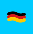 german flag linear style sign of state of germany vector image