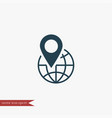 globe location icon simple vector image
