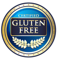 Gluten Free Blue Label vector image vector image