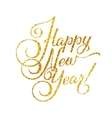 Gold Happy New Year Card Golden Shiny Glitter vector image vector image