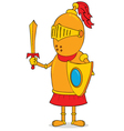 Golden knight vector image vector image