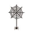 halloween web with spider cutted out black vector image