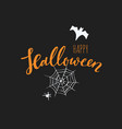 happy halloween banneremblem logo hand vector image