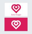 heart logo icon symbol design vector image