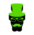 hipster accessories design green 3d icon vector image