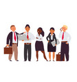 international managers team people business vector image vector image