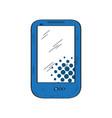 isolated retro smartphone icon vector image vector image
